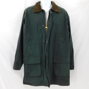 Made in Ireland VTG Avoca Green Waxed Field Coat
